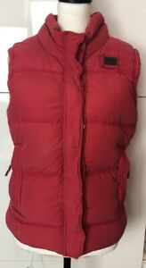 Snug Gilet Bodywarmer 8 10 12 14 16 Ladies RED Quilted Padded /& Hooded Warm