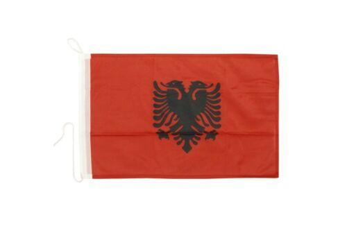 Albanien Bootsfahne Bootfahne Fahnen Flaggen fürs Boot 30x40cm