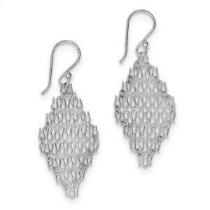 925-Sterling-Silver-Rhodium-Plated-Chain-Link-Dangle-Earrings