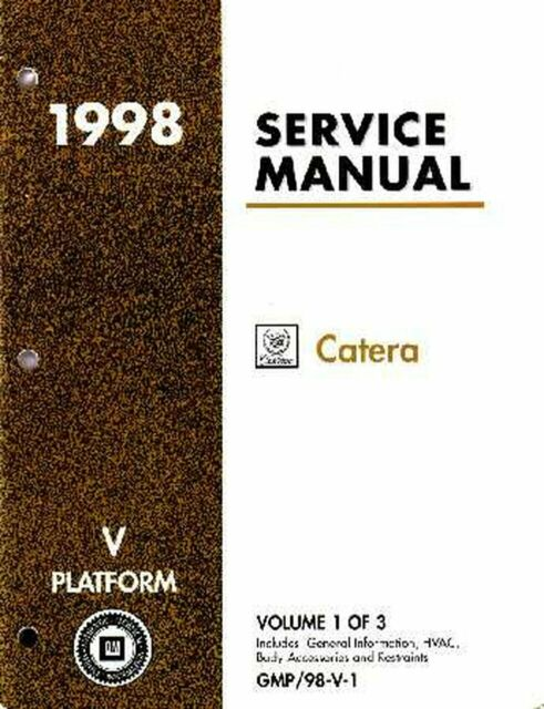 Bishko Oem Repair Maintenance Shop Manual Bound For Cadillac Catera 1998