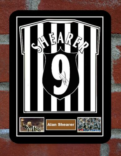 Framed  Shirt Signed Alan Shearer  Metal Sign  Man Cave