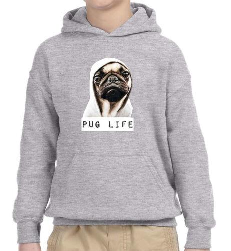 New Way 014 Youth Hoodie Pug Life Wearing Hoodie