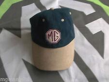 MG ZR ZS ZT MG logo Baseball Cap Blue & Beige Brand New mgmanialtd.com