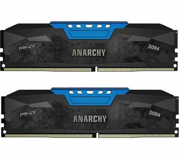 *BRAND NEW* PNY 2x8GB Anarchy 16GB Kit DDR4 2400MHZ PC4-19200 Desktop Memory