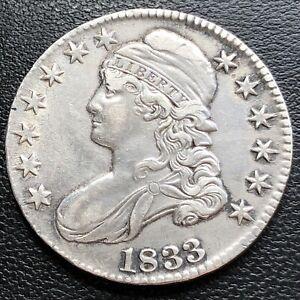 1833 Draped Bust Half Dollar 50c High Grade XF - AU #29255