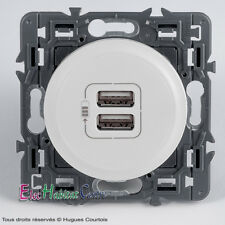 Legrand 099736 C/éliane Double Prise USB Encastrable 240V Blanc