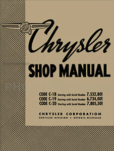 1938 chrysler shop manual 38 royal and imperial repair base for 1939 rh ebay com chrysler service manual chrysler 200 shop manual