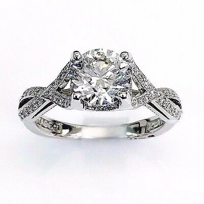 1 43cttw Tacori Platinum Diamond Wedding Engagement Ring 1 11 E F