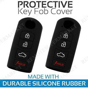 2 Key Fob Cover for 2017 2018 Mazda CX-3 Remote Case Rubber Skin Jacket