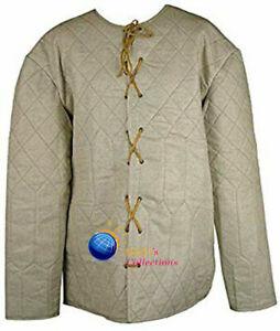 Medieval padded Costumes Gambeson Aketon shirt under armor dress sca larp gear