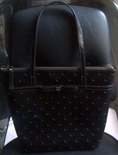 AUTHENTIC KATE SPADE BLACK PATENT LEATHER BOW TOTE HANDBAG SHOULDER PURSE