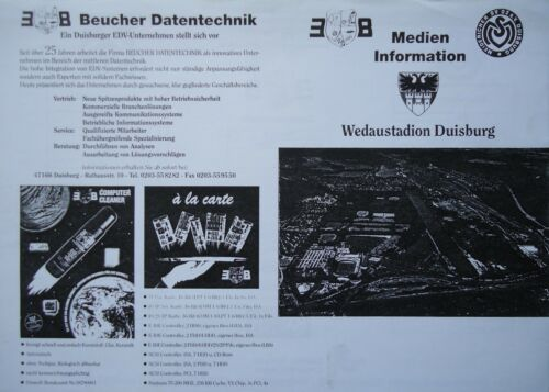 Medien Info 1997//98 MSV Duisburg FC Kaiserslautern