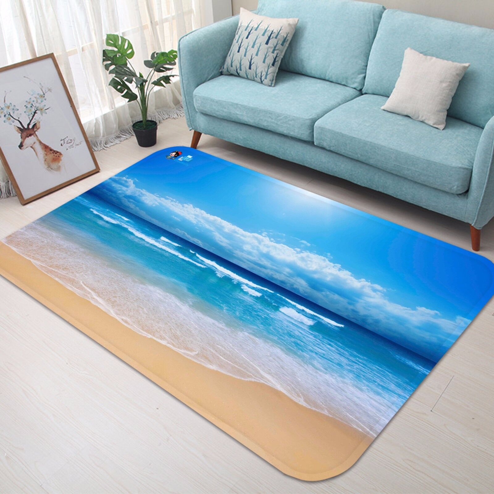 Cielo De Playa 3D 416 Alfombra Colchoneta Antideslizante Alfombra De Sala Elegante De Calidad Foto Alfombra