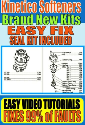 ⭐⭐⭐⭐⭐ Kinetico Water Softener ~ Rebuild Kits ~ Easy Fix Kit Fast Fitting WFS