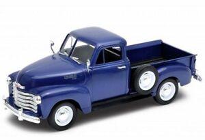 CHEVROLET 3100 Pick up - 1953 - bluemetallic - WELLY 1:24