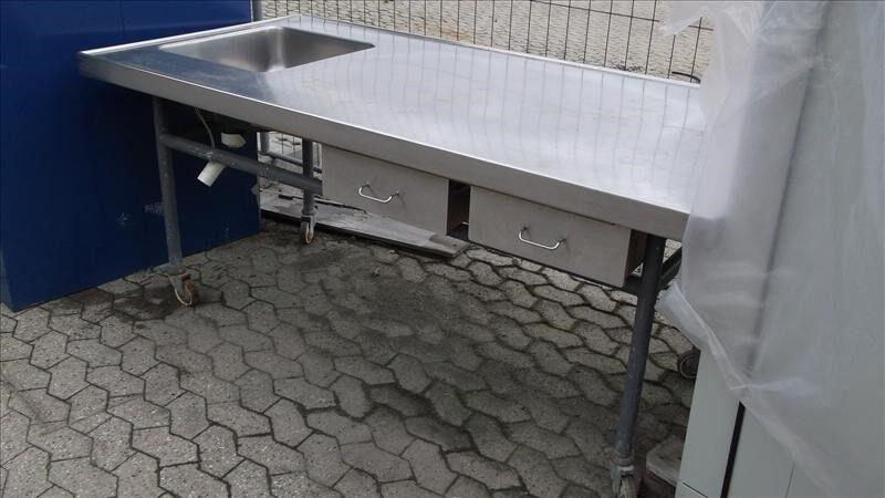 Arbejdsbord, køkkenbord, Rustfribord L202 D101 H88