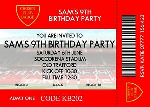 Image Is Loading Personalised Boy 039 S Football Themed Birthday Party