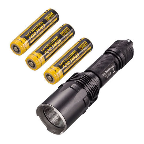 Nitecore TM03 cree XHP70 LED Linterna - 2800Lm con 3x IMR18650D Baterías
