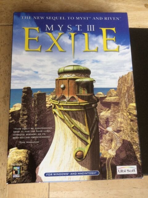 New Myst III: Exile for PC CD-ROM & MAC Macintosh Game Boxed