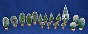 Vintage LEMAX & DEPT 56 Villages Sets of 15 Christmas Trees - Different Size