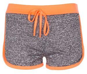 New-Womens-Ladies-Fleck-Summer-Holiday-Hot-Pants-Workout-Runner-Shorts