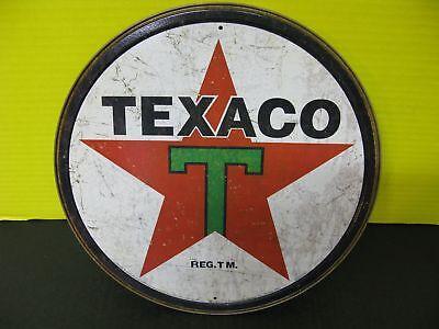 TEXACO metal sign Sky chief gasoline a texas co gas /& oil auto service       4-1