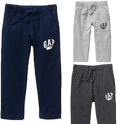 New BabyGap Infant Toddler Boys Logo Jersey Pants 6-12M 12-18M 18-24M 2 3 4 5 yr