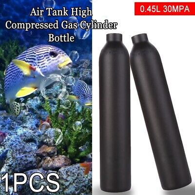 0.45L 4500psi Air Tank High Compressed Gas Cylinder Bottle For Paintball PCP