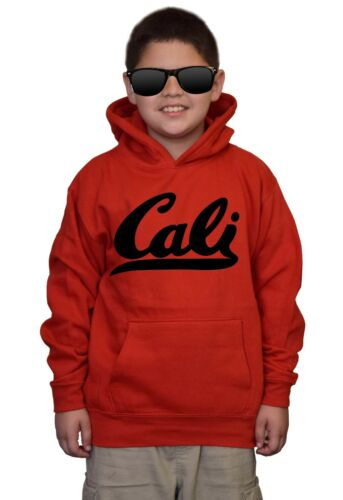 New Youth White Cali Kids Red Hoodie California Republic Life Bear Pride Home