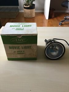 AMC-Movie-Light-For-Super-8-Cameras-Model-Q2-Working-With-Original-Box