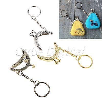 5pcs 4x3.5cm Arch Purse Coin Bag Metal Frames Kiss Ball Clasp Key Chain Stylish
