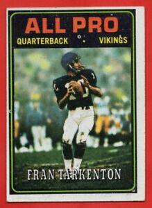 1974-Topps-129-Fran-Tarkenton-EX-EXMINT-Minnesota-Vikings-HOF-AP-FREE-SHIPPING