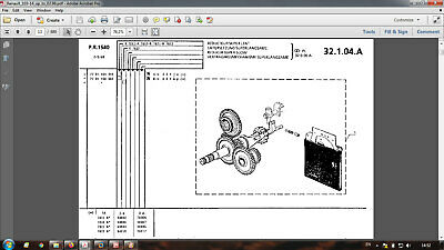 tractor parts catalog in PDF format 03.86-02.91 Renault 103-14
