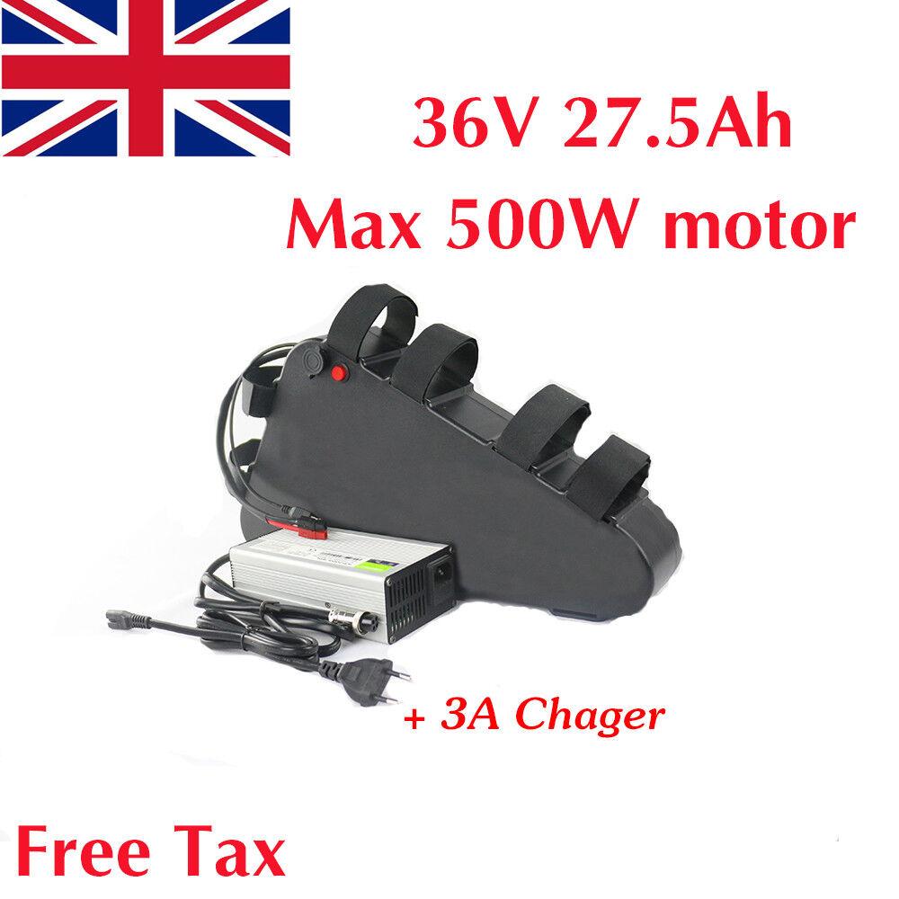 36V 27.5Ah 500W Li-Batería de litio de triángulo Electric Bike Oin LG Cochegador De Celular 3A