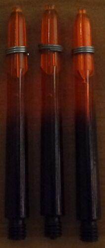 "2BA 10 Sets 10x3 RSL Vignette Duo Tone Plus /""Black Orange/"" Medium Dart Stems"