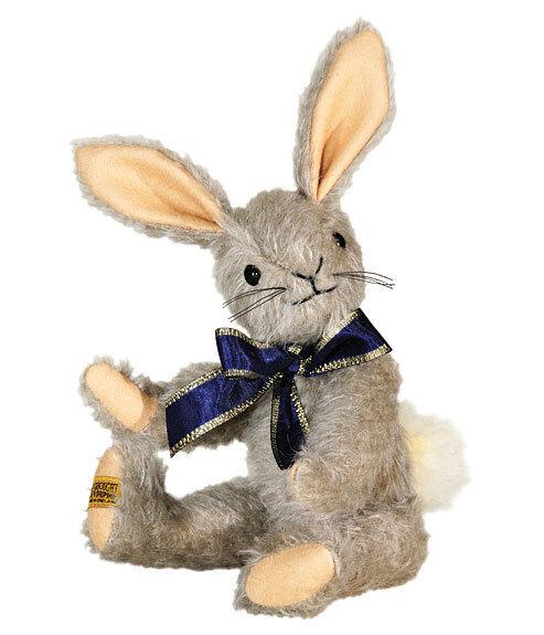 Merrythought Binky Kaninchen Kaninchen Kaninchen Klassisches keilzinkenanlage Mohair - 23cm 22.9cm - a63a38