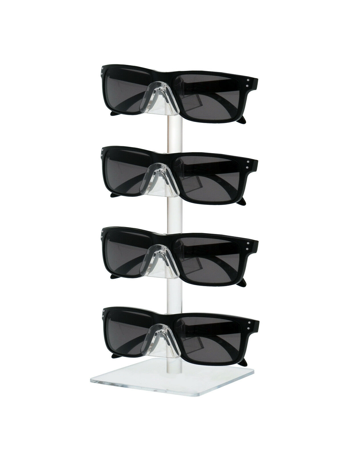 Lot of 6 Clear 4 Tier Sunglasses Eyeglasses Counter Square display stand.