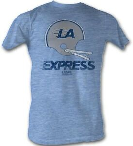 LA-Express-LOGO-USFL-Men-039-s-Tee-Shirt-Light-Blue-Sizes-S-5XL