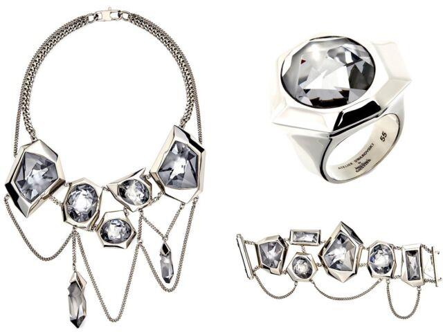- Atelier Swarovski Jean Paul Gaultier Gunmetal Runway Necklace 5263426