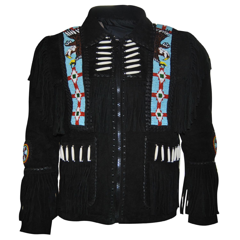 Custom Handmade Fringe Uomo Western Suede Pelle Cappotto With  Fringe Handmade and Beads ceeda7