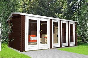 X 3m 40mm log cabin ideal for garden office gym for Garden office gym