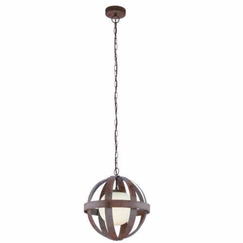 Antike Pendel Decken Leuchte Küchen Glas Käfig Kugel Strahler Rost Hänge Lampe