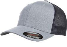 30157827d75 6311 Flexfit Custom Hat Melange Mesh Lids Trucker Cap Mid Profile Fitted  OSFM