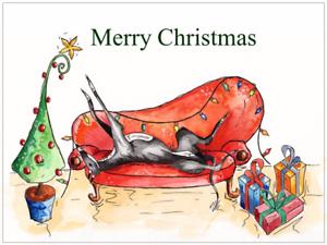 Lévrier Lurcher Whippet Cartes de Noël-Pack de différentes tailles