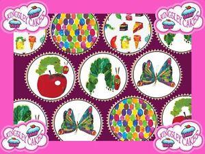 30-x-la-Faim-Caterpillar-Premium-Cupcake-Toppers-Comestibles-Papier-de-Riz-Gaufrette-199
