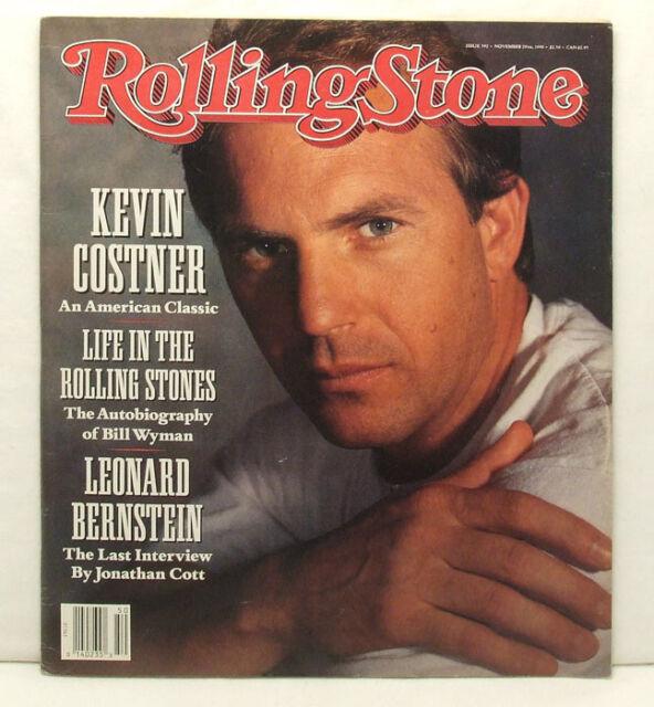 Kevin Costner ROLLING STONE MAGAZINE #592 Leonard Bernstein November 29 1990!!
