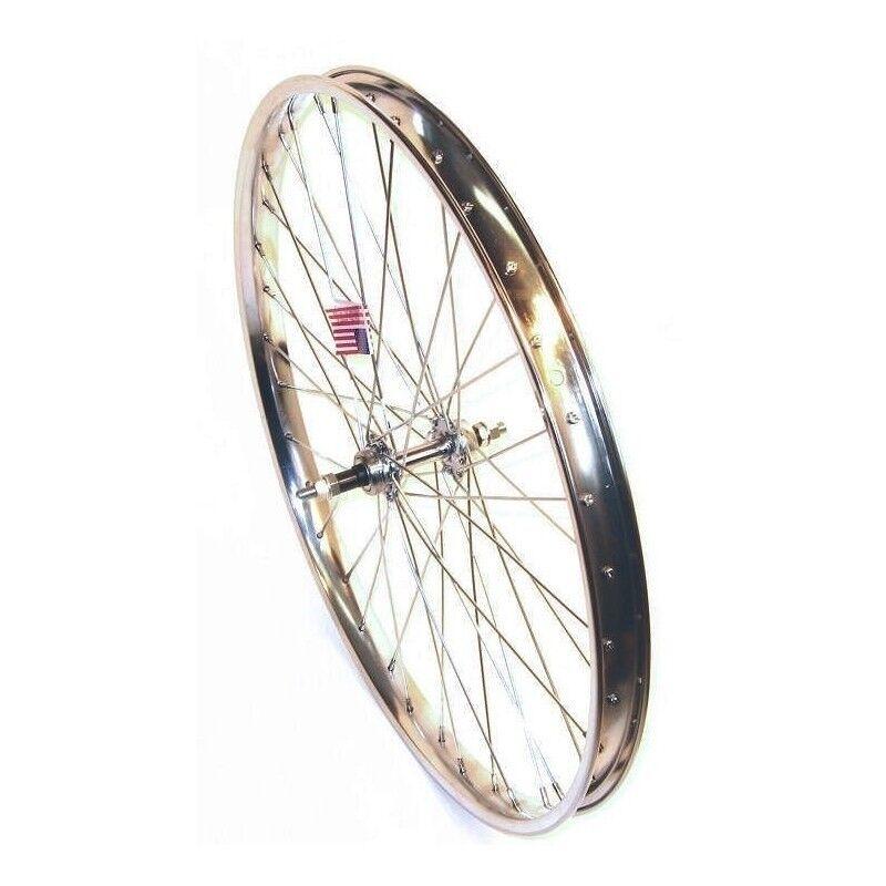 StaTru Osco 26X2.125 Steel Rear Wheel 6-Sp B O 36H 12G Chrome