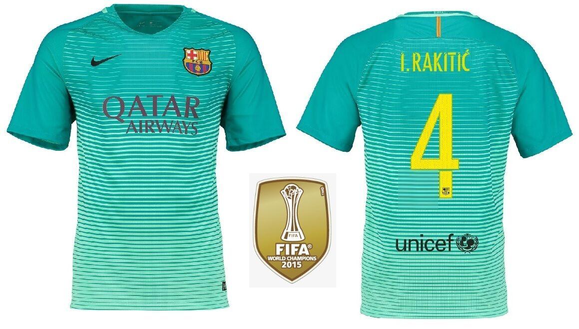 Trikot Nike FC Barcelona Barcelona Barcelona 2016-2017 Third WC - Rakitic 4  Barca Badge b87323
