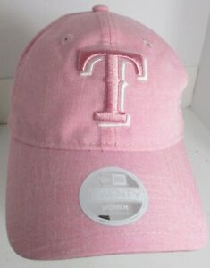 Texas-Rangers-Women-039-s-Hat-Cap-Pink-MLB-New-Era-Strapback-Baseball