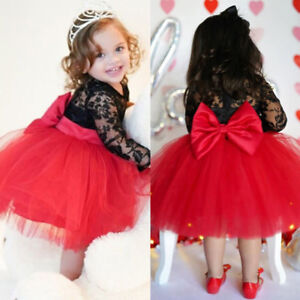 Kids Toddler Baby Girl Tulle Lace Floral Princess Party Pageant Prom Tutu Dress